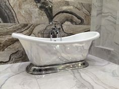 A shiny bath adds a touch of glamour to any bathroom. This is the Excelsior from BC Designs