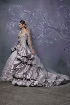 Colored wedding gowns are not taboo.