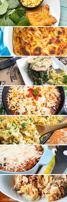 Some of our favorite recipes - all of them casseroles.