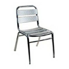 Alston Quality Industries�Slat-Seat Aluminum Patio Dining Chair without Cushion