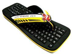 http://www.storecx.com keyboard slippers,beach sandal flip flop  / yellow $29-35 worldwide free shipping