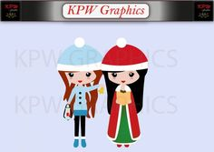 Christmas Carol Singers Girls Clip-art Set in a PNG format. Personal & Small Commercial use Girls Clips, Girl Clipart, Clipart Images, Christmas Carol, School Projects, Singers, Commercial, Clip Art, Scrapbook