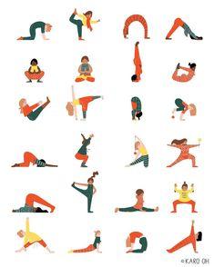 Illustration by @karo_oh Yoga Illustration, Yoga Poses, Photo And Video, Day, Illustrations, Instagram, Videos, Photos, Yo Yo