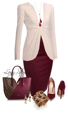 """10/17/15"" by longstem ❤ liked on Polyvore featuring Louis Vuitton, Oscar de la Renta and Shoe Republic LA"