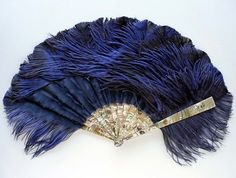 Duvelleroy mother of pearl and feather fan.