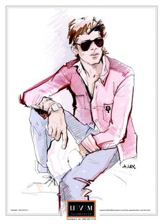 fashionillustr.quenalbertini: Men's Fashion Sketch by Alena Lavdovskaya
