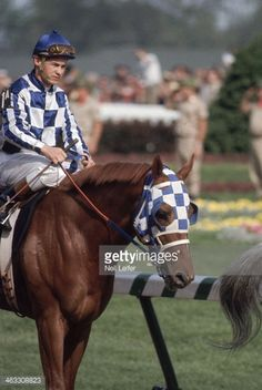 Ron Turcotte aboard Secretariat before race at Churchill Downs. Neil... Pictures | Getty Images