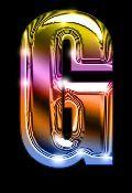 Oh my Alfabetos!: Alfabeto arco iris metalizado.