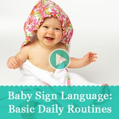 See the basic daily routine signs for Baby. #babysignlanguage