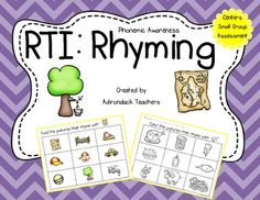 We made this to help our RtI kiddos who need simple one concept activities, at a time, to learn the concept of rhyming. No fancy borders or fonts to distract them just high quality clip art for picture rhyming identification.   This does not have any words, it only uses pictures, Phonemic Awareness by definition truly is about the auditory discrimination of identifying rhyming pairs. Once they have mastered identifying pictures that rhyme then you can begin teaching them using words.