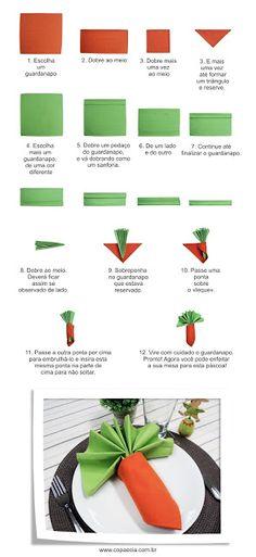 Carrot napkin folding