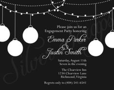 etsy engagement party invites - Google Search