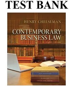 Introduction Name: test bank for Contemporary Business Law Edition by Henry R. Cheeseman [caption align='alignnone' test bank for Contemporary Business Law Cheap Textbooks, Online Textbook, Stefan Zweig, John Kerry, Business Ethics, Free Pdf Books, Book Collection, Books Online