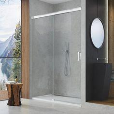 Kvalitní sprchové kouty a sprchové vaničky - Sanswiss Ronal Group. Showroom, Bathtub, Mirror, Bathroom, Lighting, Furniture, Home Decor, Standing Bath, Washroom