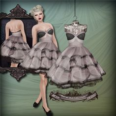 The Sea Hole - Valley (MESH) Dress - Silverscreen