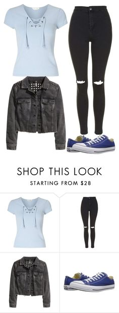"""""""Untitled #11429"""" by beatrizibelo ❤ liked on Polyvore featuring Miss Selfridge, Topshop, H&M and Converse"""
