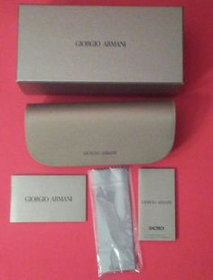 GIORGIO ARMANI CASE SUNGLASSES POUCH EYEGLASSES CLEANING CLOTH SOFT CASE BOXED   Health & Beauty, Vision Care, Eyeglass Cases   eBay!