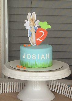 Peter Rabbit Cake Topper smash cake first by ApplesModernArt