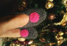 handmade crochet slippers Crochet Slippers, Crochet Earrings, Handmade, Hand Made, Craft, Slippers Crochet, Crocheted Slippers