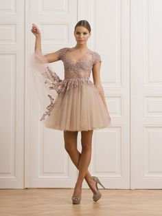 CHERRY LACE AND TULLE DRESS - Rhea Costa-Shop
