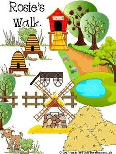 Rosie's Walk Comprehension Activities and... by Family and Child Development Lab-Becky Cothern | Teachers Pay Teachers