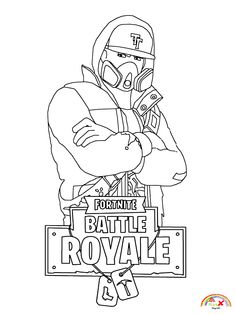 Fortnite Dab Coloring Page Free Kids Coloring Pages