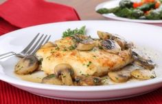 Slow Cooker Chicken and Mushroom Gravy is so easy to prepare! And it's only 82 calories per serving!