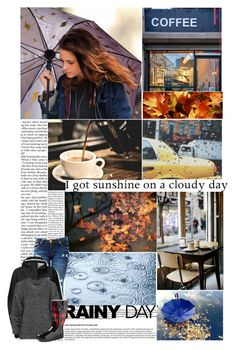 """Rainy Day"" by amberbel ❤ liked on Polyvore featuring Nicki Minaj, Coffee Shop, The North Face, Belstaff and Western Chief"