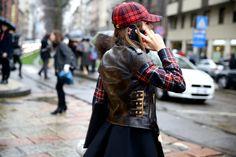 Street look à la Fashion Week de Milan automne-hiver 2014-2015, Jour 1