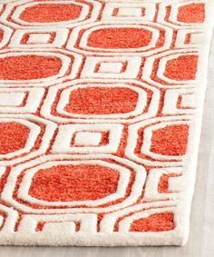 Rose Hand-Tufted Wool Rug | zulily
