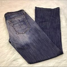I just added this to my closet on Poshmark: Joe's Jeans Flare Dark Wash Jeans. Price: $30 Size: 27
