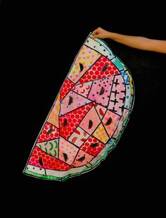 School Art Projects, Projects For Kids, Diy For Kids, Watermelon Art, Watermelon Carving, Big Pops, Southwest Art, Latte Art, Summer Art