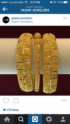 Gold Bangles Design, Gold Jewellery Design, Gold Jewelry, Jewelery, Jewelry Sets, Jewelry Rings, Hyderabadi Jewelry, Gold Set, Wedding Jewelry