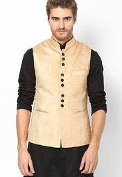 See Designs Beige Solid Slim Fit Nehru Jacket Men Nehru Jacket For Men, Nehru Jackets, Indian Men Fashion, Mens Fashion, Modi Jacket, Indian Groom Wear, Wedding Sherwani, Kurta Designs, Fashion Essentials