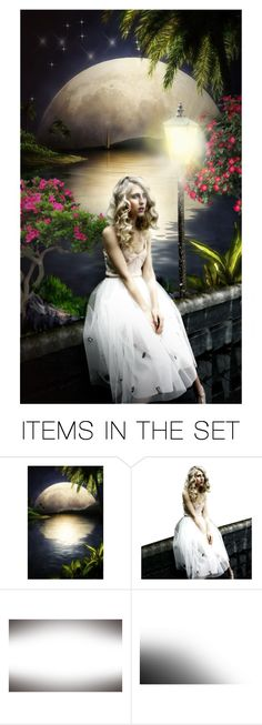 """""""Tropical night"""" by kseniz13 ❤ liked on Polyvore featuring art, travel, Night, tropic and girl"""