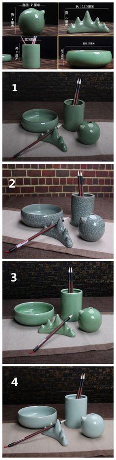 FJ037 Hmay Porcelain Set (4 pcs) [FJ037] - $35.90 : hmay rice paper manufacturer for calligraphy, brush painting&Chinese painting