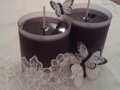 Amazing soy candles tinted with a hint of purple Fig soy candles