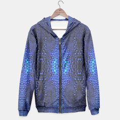 Abstract Raindrops Pattern Hoodie, Live Heroes