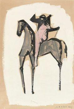 Marino Marini, Cavallo e Cavaliere, 1952 on ArtStack #marino-marini #art