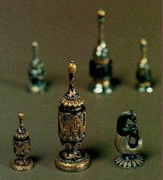 The State Hermitage Museum: Hermitage History -- another view of the Adrian Sukhanov's chess set, 1782, Tula.