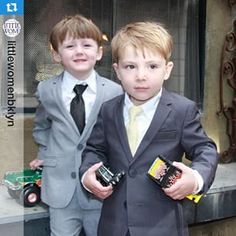 Suits and trucks in Brooklyn. Our Mod suits keeps the boys happy for Easter parties and other formal occassions. via @littlewomenbklyn. See more suits for boys at appaman.com.