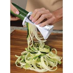 Veggetti Spiral Vegetable Cutter. Seriously this is the best thing ever. Some much easier and quicker than a julienne peeler!