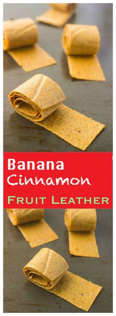 Cinnamon banana Fruit Leather or fruit Strips are a smart and easy way to use the overripe bananas and turn them into natural and healthy kids snack. Banana Snacks, Banana Fruit, Fruit Snacks, Fruit Recipes, Fruit Fruit, Fruit Party, Banana Roll, Banana Treats, Diet Recipes