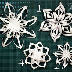 """Vaikka mä vietän joulukuuni lähes täysin Espoossa """"kotikotona"""", mun oma kämppä tuntui kovin karulta ilman minkäänlaista joulukoristetta. Tai... Recycled Christmas Decorations, Easy Christmas Crafts, Paper Decorations, Christmas Fun, 3d Paper Snowflakes, Christmas Snowflakes, Paper Ornaments, Diy Christmas Ornaments, Origami Paper Art"""