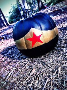Wonder Woman Painted Pumpkin by booturtle, via Flickr
