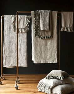 Copper Pipe rack for Bedroom