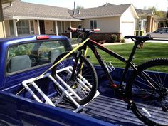 We recently bought two bikes and instead of just throwing the bikes onto the bed of the truck and get them scratched, I build one using PVC pipes from the ...