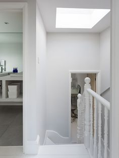 The dedicated loft conversion company working across the whole of London and the home counties Stairs To Attic Conversion, Loft Conversion Windows, Loft Conversion Victorian Terrace, Victorian Terrace Hallway, Loft Conversions, Edwardian Staircase, Loft Staircase, Staircases, Hallway Office