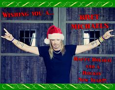 Bret Michaels Wishing you a Rocking Christmas