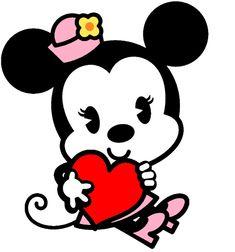 Mickey Mouse y Minnie bebés besandose - Imagui